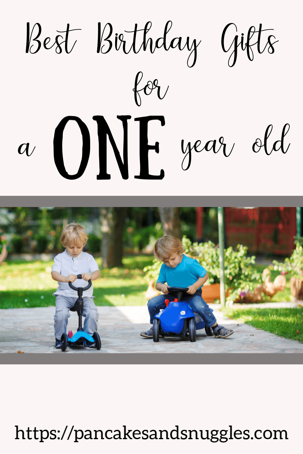 Two Toddlers Riding Push Cars
