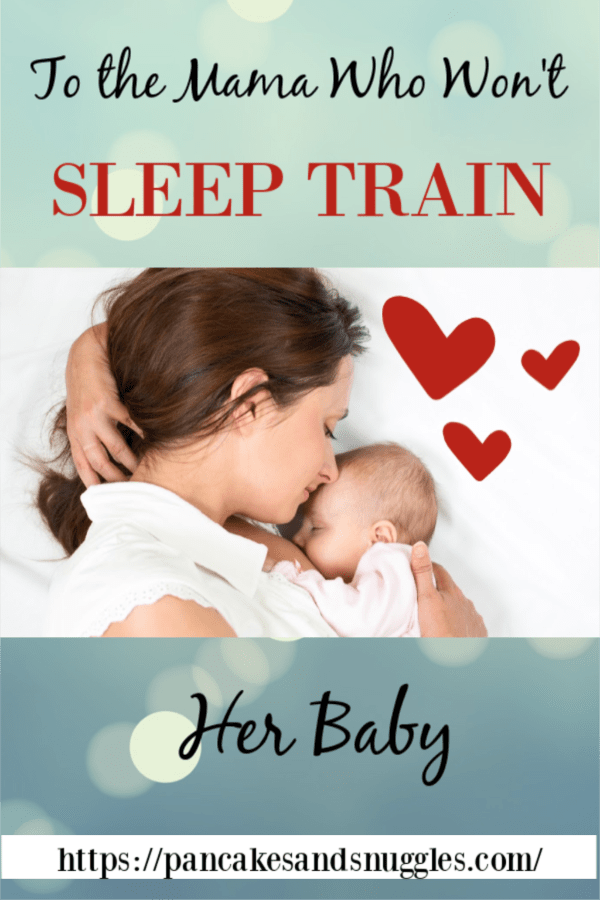 Do you put your baby to sleep WITHOUT sleep training? Pin now, read later!