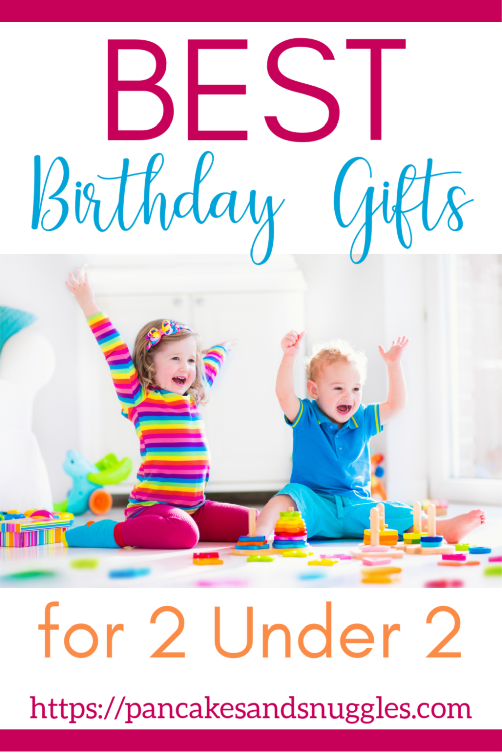 At a loss for what to get baby #2? Check out my list of best birthday gifts for 2 under 2! Pin now, read later.