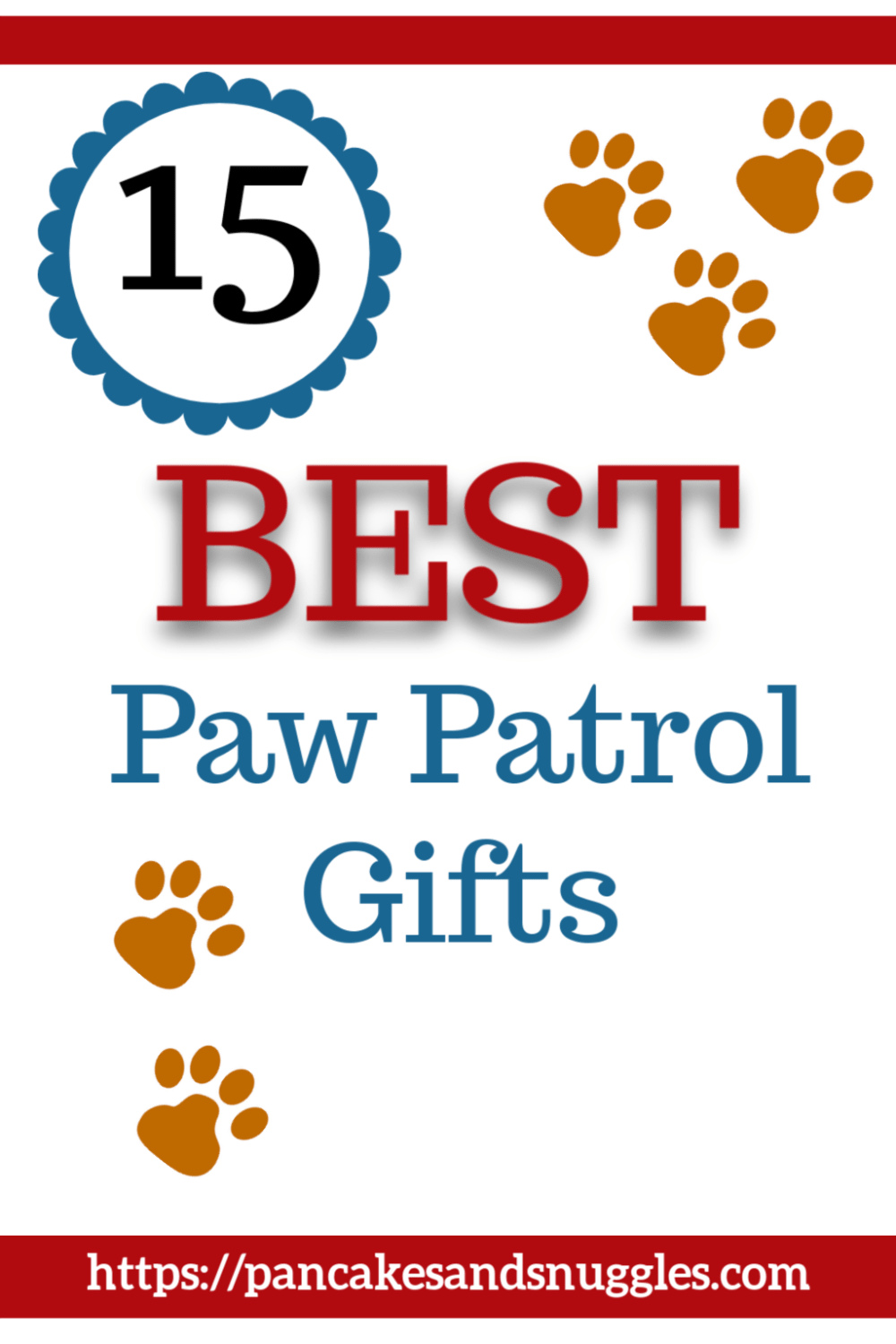Is your little one obsessed with Paw Patrol? Have no idea where to begin when it comes to shopping? Check out my list of 15 best Paw Patrol gifts! #toddlergifts