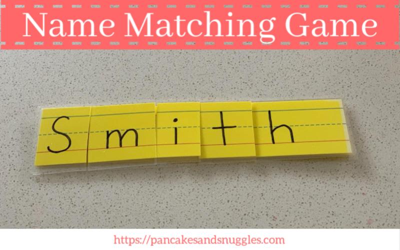 Name Matching Game