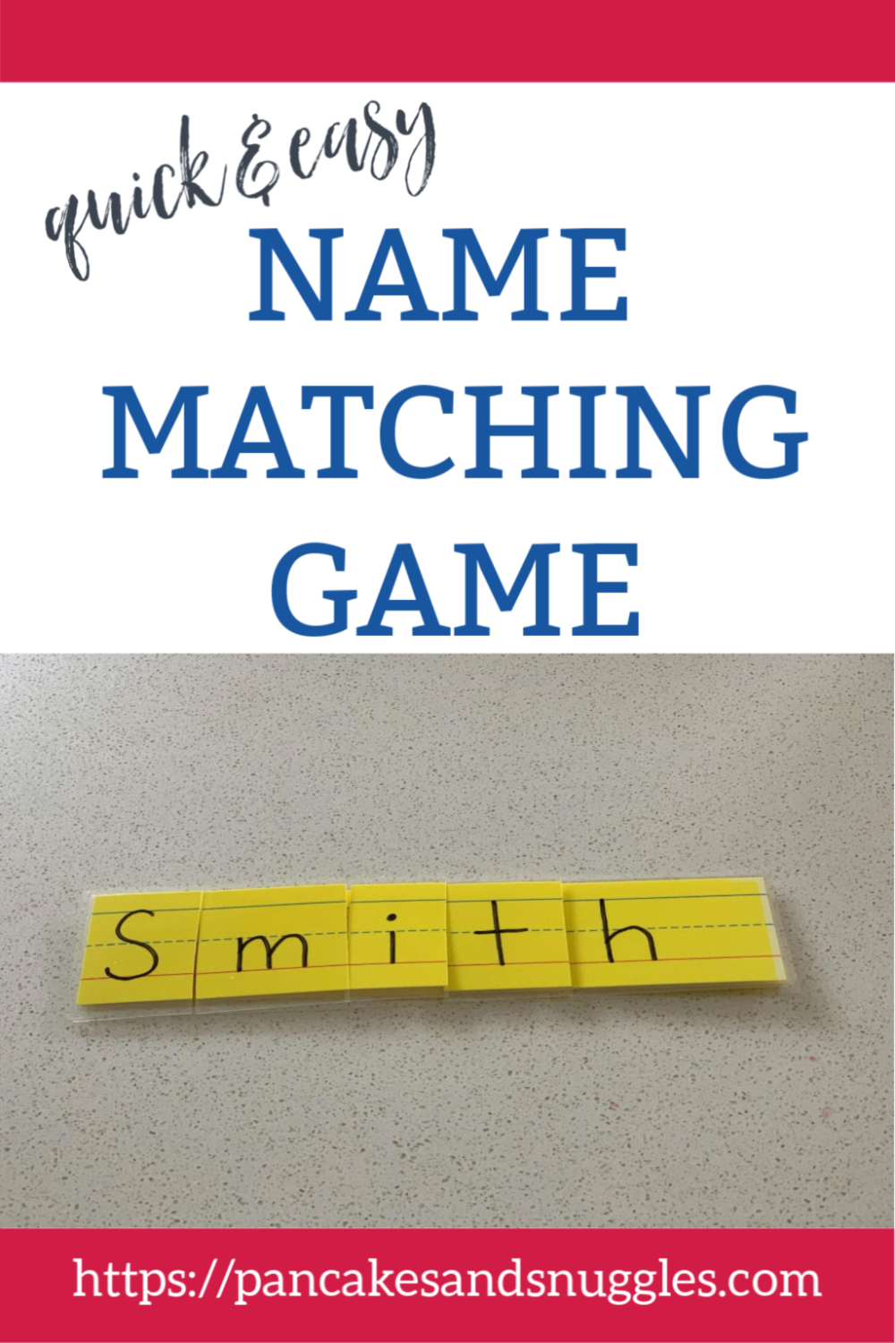 Name Matching Game